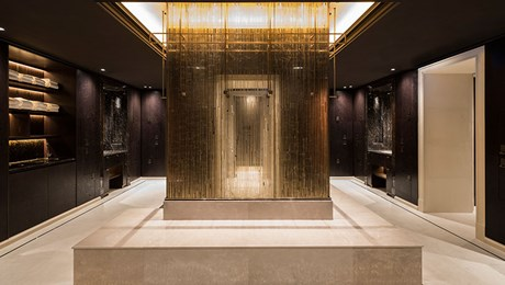 Male Changing Room, at The Lanesborough Club & Spa, Luxury Health Club